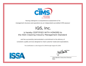 CIMS Certificate with Honors